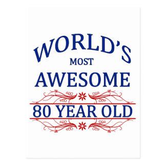 Fantastischsten 80 Jährigen der Welt die Postkarte