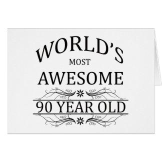 Fantastischsten 90 Jährigen der Welt die Karte