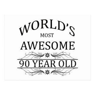 Fantastischsten 90 Jährigen der Welt die Postkarte