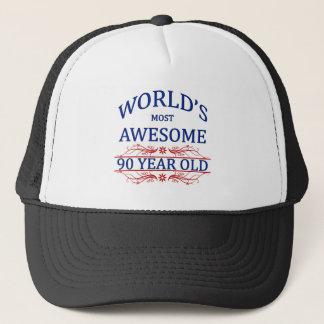 Fantastischsten 90 Jährigen der Welt die Truckerkappe