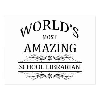 Fantastischster Bibliothekar der Welt Schul Postkarte