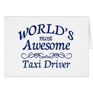 Fantastischster das Taxi-Fahrer der Welt Karte