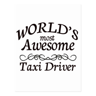 Fantastischster das Taxi-Fahrer der Welt Postkarte