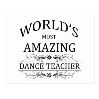 Fantastischster der Tanz-Lehrer der Welt Postkarte