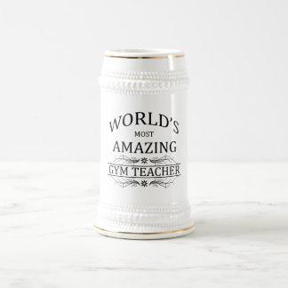 Fantastischster die Turnhallen-Lehrer der Welt Bierkrug
