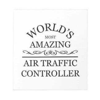 Fantastischster Fluglotse der Welt Memo Notizblöcke