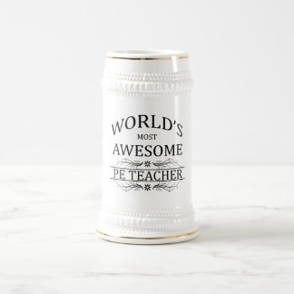 Fantastischster Lehrer das PET der Welt Bierglas