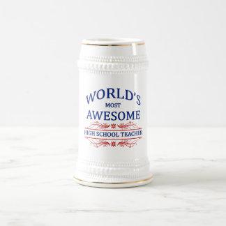 Fantastischster Lehrer die Highschool der Welt Bierglas