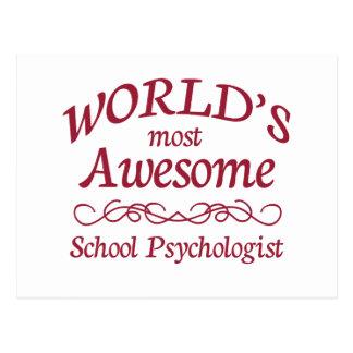 Fantastischster Psychologe der Welt Schul Postkarte