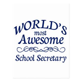 Fantastischster Sekretär der Welt Schul Postkarte