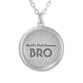 Fantastischstes das Bro der silberne Zebra-Druck-W Selbst Gestaltete Halskette