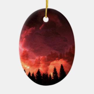 Fantasy Landscape Keramik Ornament