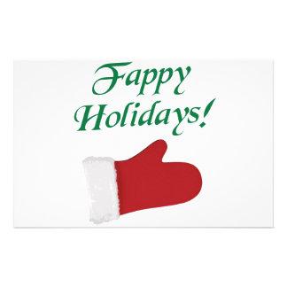 Fappy Feiertags-Weihnachtshandschuh Briefpapier