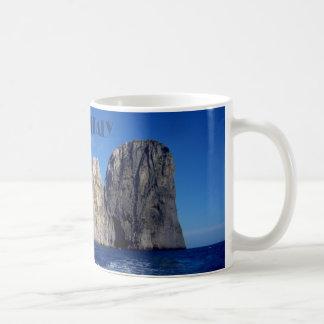 Faraglioni Stapel, Insel von Capri - Neapel - Kaffeetasse