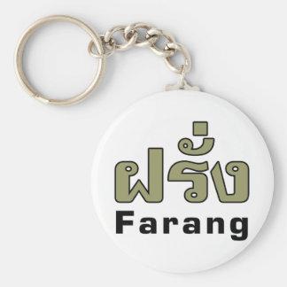 Farang ♦ Ausländer in thailändische Sprachskript ♦ Schlüsselanhänger