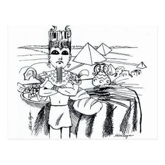 farao COM-MESA egito antigo Postkarte