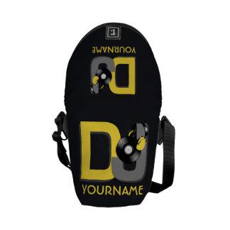 Farb- u. Monogrammbotetaschen DJ kundenspezifische Kurier Taschen