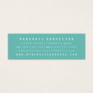 Farbberufliche dünne Karten des Minimalist-zwei
