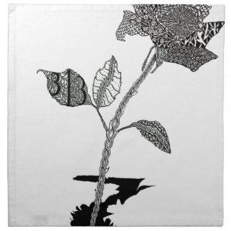 Farbbleistift-Detroit-Rose Serviette