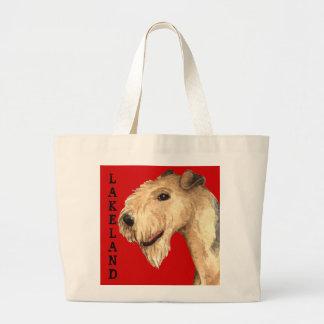 Farbblock Lakelands Terrier Jumbo Stoffbeutel