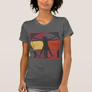 Farbblock Vitruvian Mann T-Shirt