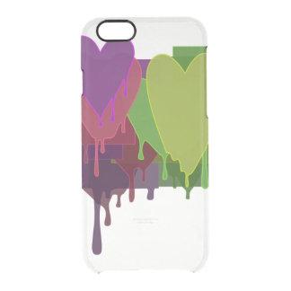 Farbblöcke, die Herzen schmelzen Durchsichtige iPhone 6/6S Hülle