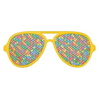 Farbblöcke Sonnenbrille