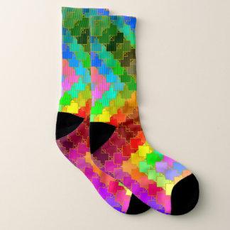 Farbchips getrimmt in Goldsocken Socken