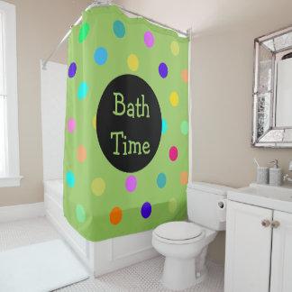 Farbconfetti-Tupfen-Duschvorhang Duschvorhang