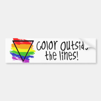 Farbe außerhalb der Linien Autoaufkleber