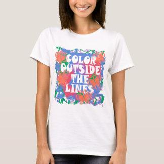Farbe außerhalb der Linien T-Shirt