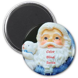 Farbe blinde Sankt mit niedliches Baby-polarem Runder Magnet 5,1 Cm
