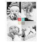 Farbe blockiert glückliches neues postkarte