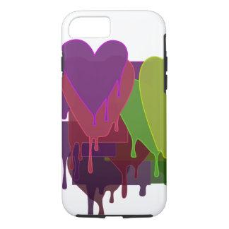 Farbe blockiert schmelzende Herzen - wählen Sie iPhone 8/7 Hülle