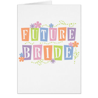 Farbe blockiert zukünftige Braut Karte
