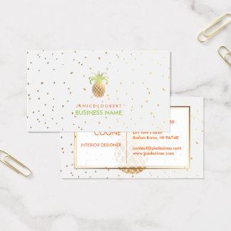 Farbe des PixDezines Imitat-Gold Pineapples/DIY Visitenkarte