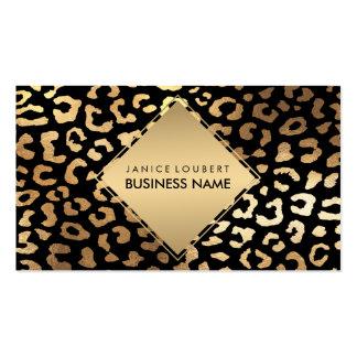 Farbe des PixDezines Imitat-Goldleoparden Visitenkarten