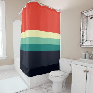 Farbe fünf kombiniert - blaues Aqua-Grün-Gelb-Rot Duschvorhang