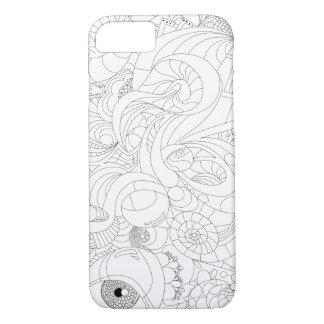 Farbe-Ihr-Eigenes Reise-ein-Gekritzel iPhone 8/7 Hülle