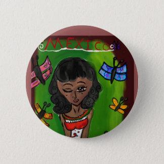 Farbe ist Schönheit: Mexiko Runder Button 5,7 Cm