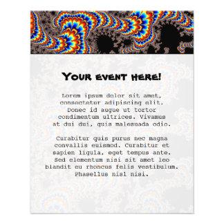 Farbe laufen gelassen - Fraktal-Kunst 11,4 X 14,2 Cm Flyer