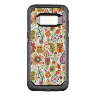 Farbe mit Blumen und Eule OtterBox Commuter Samsung Galaxy S8 Hülle