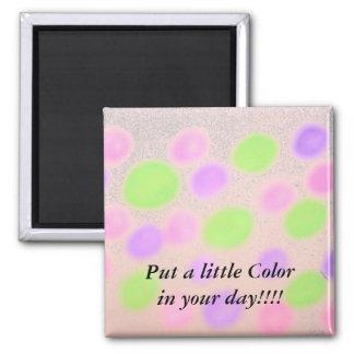 Farbe punktiert Magneten Quadratischer Magnet