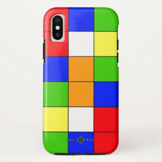Farbe quadrierte Tapete iPhone X Hülle