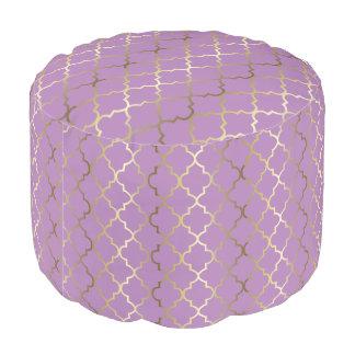 Farbe Quatrefoil des Gold-u. Lavendel-Muster-  DIY Hocker
