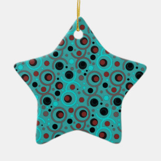 FARBE RUNDE PATTERN GIFT IV A50 KERAMIK ORNAMENT