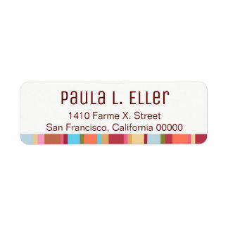 Farbe stripes Rücksendeadresseaufkleber