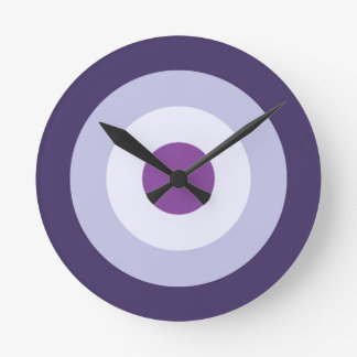 Farbe vier kombiniert - blauer violetter lila runde wanduhr