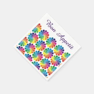 Farbe zeigt Kreis-Muster + Ihr backgr. u. Text Serviette