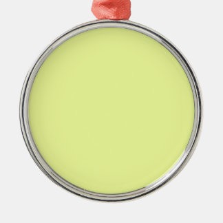 Farbeluis Zitrone Silbernes Ornament